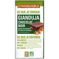Chocolat Ethiquable Gianduja noir intense / 100g