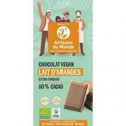 Chocolat Végan Lait d'amande / 100g