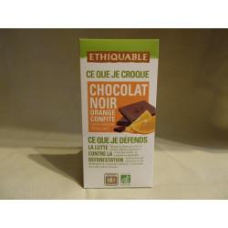 Chocolat Ethiquable Noir Orange / 100g