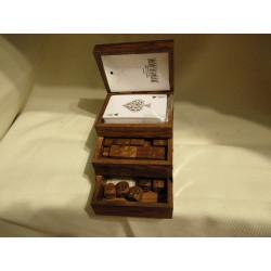 Boite de jeux accordéon / Bois de Sesham - Inde