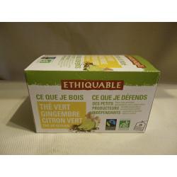 Thé Ethiquable Vert Gingembre CitronVert