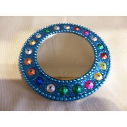 Miroir fantaisie / Inde - Perles