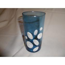 Vase capiz bleu / Philippines