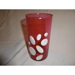 Vase capiz rouge / Philippines