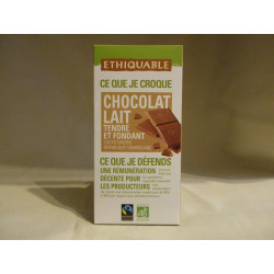 Chocolat Ethiquable Lait / 100g