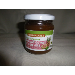Confiture Ananas Goyave Citron Vert / 240g
