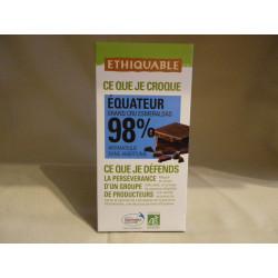 Chocolat Ethiquable Noir 98% / 100g