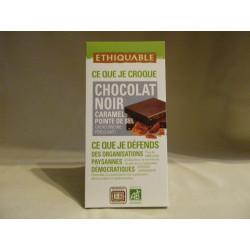 Chocolat Ethiquable Noir Caramel-Sel / 100g