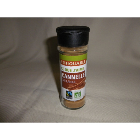 Cannelle Ethiquable du SRI LANKA BIO / 40g