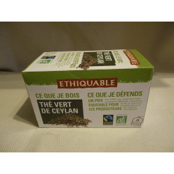 Thé Ethiquable Vert Ceylan / 20 sachets