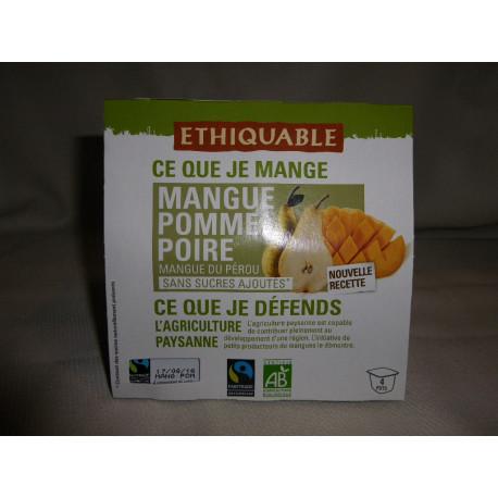Dessert Ethiquable Mangue Poire / 4x100g