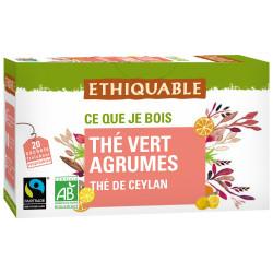 Thé Ethiquable Vert Agrumes / 20 sachets