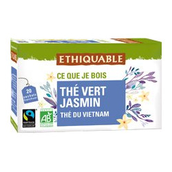 Thé Ethiquable Vert Jasmin / 20 sachets