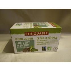Thé Ethiquable Vert Menthe / 20 sachets