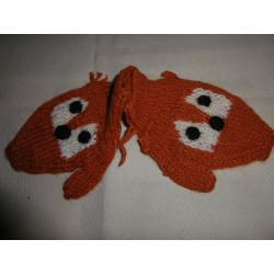 Moufles renard / Pérou Laine 1-3ans