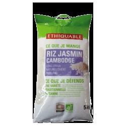 Riz Jasmin Blanc Cambodge Bio / 5kg