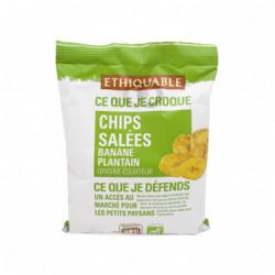 Chips de Bananes Plantain Salées / 85g