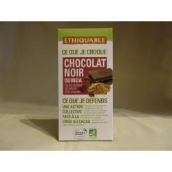 Chocolat Ethiquable Noir Quinoa / 100g