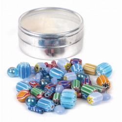Kit de perles / Verre et céramique - Inde