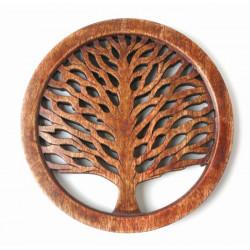 Dessous de plat celtique / Inde - Bois de manguier