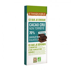 Chocolat Ethiquable Cacao Cru Noir 70% / 80g