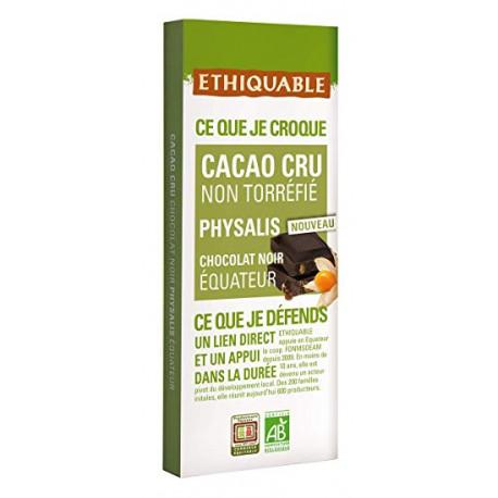 Chocolat Ethiquable Cacao cru Physalis chocolat Noir 70% / 80g